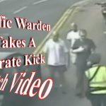 Taffic warden gets karate head kick